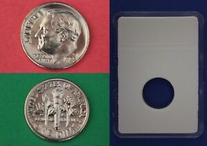 1984 D ROOSEVELT DIME WITH DIY SLAB FROM MINT SETS COMBINED SHIPPING