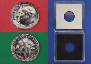 1972 D ROOSEVELT DIME WITH 2X2 CASE FROM MINT SETS COMBINED SHIPPING
