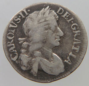 GREAT BRITAIN 4 PENCE 1679 MAUNDY  T40 351