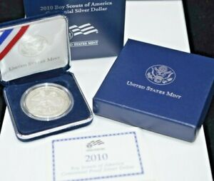 2010 UNITED STATES MINT BOY SCOUTS OF AMERICA CENT PROOF SILVER SILVER