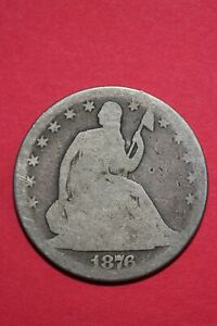 1876 P SEATED LIBERTY HALF DOLLAR EXACT COIN PICTURED FLAT RATE SHIPPING OCE46