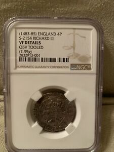 Click now to see the BUY IT NOW Price! RICHARD III S 2154 ENGLAND 4P GROAT FINE NGC GRADED TOOLED  1483 85