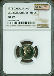 Click now to see the BUY IT NOW Price! 1971 CANADA 10 CENTS NGC MAC MS 69 PQ FINEST GRADE SPOTLESS  ..