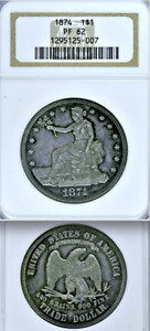 1874 NGC PR62 MINTAGE 700  175 RELEASED TO CIRCULATION  PROOF TRADE DOLLAR $1