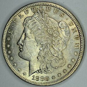 1880 MORGAN DOLLAR $1  DETAILS   DENTICLES ERROR  SEE OUR STORE