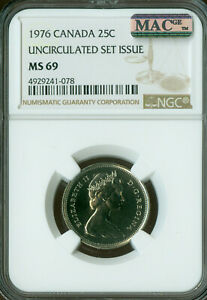 Click now to see the BUY IT NOW Price! 1976 CANADA 25 CENTS NGC MAC MS69 PQ FINEST GRADE SPOTLESS   ..