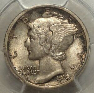 Click now to see the BUY IT NOW Price! 1916 D MERCURY DIME PCGS MS 63FB CRUSTY ORIGINAL  KEY DATE COIN