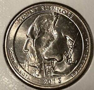 2014 D  MOUNT RUSHMORE WASHINGTON QUARTER