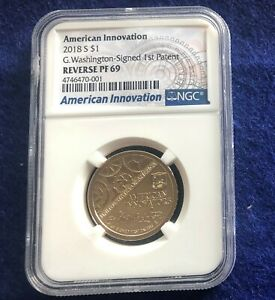 2018 S REVERSE PROOF AMERICAN INNOVATION WASHINGTON NGC GRADED PF69