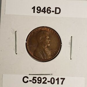 1946 D LINCOLN WHEAT CENT C 592 017