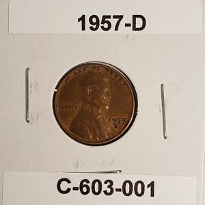 1957 D LINCOLN WHEAT CENT C 603 001
