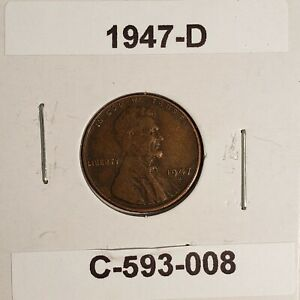 1947 D LINCOLN WHEAT CENT C 593 008