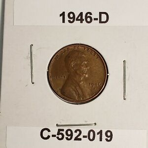 1946 D LINCOLN WHEAT CENT C 592 019