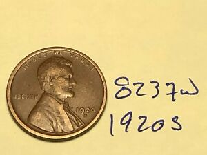 1920 S 1C BN LINCOLN CENT 8237W WHEAT PENNY
