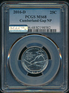 Click now to see the BUY IT NOW Price! 2016 D CUMBERLAND GAP QUARTER PCGS MAC MS68 PQ FINEST REGISTRY MAC SPOTLESS..