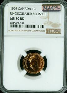 Click now to see the BUY IT NOW Price! 1992 CANADA CENT NGC MAC MS 70 RD SOLO FINEST GRADE SPOTLESS ..