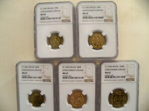 Click now to see the BUY IT NOW Price! BRAZIL 1940  SET  100 1000R