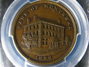 Click now to see the BUY IT NOW Price! LC 11A1 PCGS AU 53 ONE PENNY 1838 TOKEN BAS LOWER CANADA MONTREAL BRETON 523