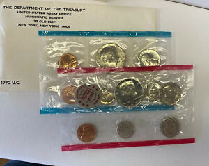 1972 US MINT SET P&D MINTS OGP ORIGINAL GOV. PACKAGING 11 COINS 5 5 1 1C 1972S