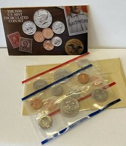 1990 US MINT SET P&D MINTS   US MINT ORIGINAL PACKAGING   10 COINS TOTAL
