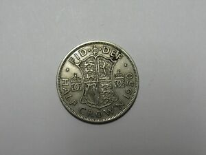 OLD GREAT BRITAIN COIN   1950 HALF CROWN HALFCROWN   DISCOLORED SCRATCHES