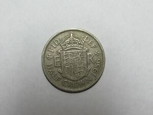 OLD GREAT BRITAIN COIN   1956 HALF CROWN HALFCROWN   CIRCULATED