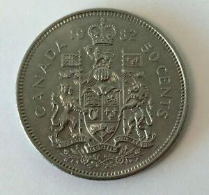 CANADA 1982 50 CENT COAT OF ARMS HALF DOLLAR COIN