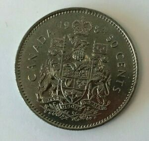 CANADA 1984 50 CENT COAT OF ARMS HALF DOLLAR COIN