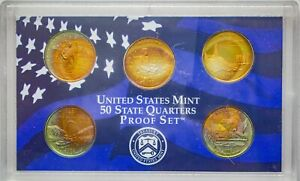 Click now to see the BUY IT NOW Price! 2003 S USA STATE QUARTERS PROOF SET 5 COINS BU COLOR UNC GEM MOSNTER TONED  DR