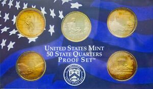 Click now to see the BUY IT NOW Price! 2003 S USA STATE QUARTERS PROOF SET 5 COINS BU STRIKING TONED COLOR GEM UNC  DR