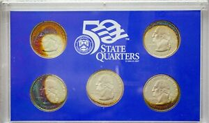 Click now to see the BUY IT NOW Price! 2005 S USA STATE QUARTERS PROOF SET 5 COINS UNC COLOR GORGEOUS TONED GEM BU  DR