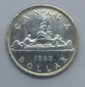 Click now to see the BUY IT NOW Price! CANADA 1948 SILVER DOLLAR $1