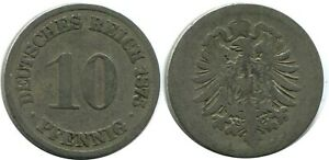 10 PFENNIG 1875 A GERMAN EMPIRE GERMANY DB306GW