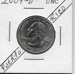 2009 D WASHINGTON QUARTER U.S. TERRITORIES   PUERTO RICO