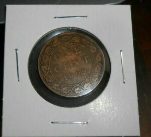 CANADA/CANADIAN 1909 LARGE CENT  NICER COIN