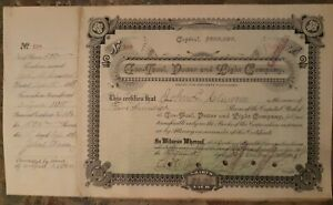 GAS FUEL POWER AND LIGHT COMPANY STOCK SHARE 1891