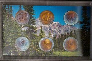 2005 US MINT WESTWARD JOURNEY NICKELS SET PROOF UNC COLOR BU NICE TONED 3  DR