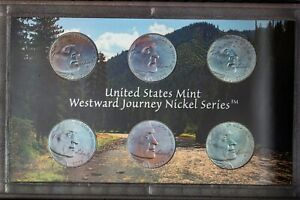 Click now to see the BUY IT NOW Price! 2005 US MINT WESTWARD JOURNEY NICKELS SET PROOF UNC TONED NICE COLOR BU 4  DR