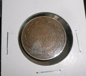 CANADA/CANADIAN 1911 LARGE CENT  NICER COIN