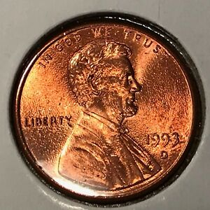1993 D LINCOLN CENT   SURFACE BLISTERS MINT ERROR   HIGH GRADE