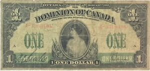 1917 DOMINION OF CANADA  $1 DC 23A   SERIES A WS1821