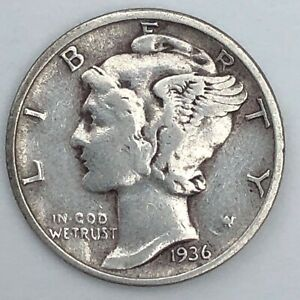 1936 MERCURY DIME       FREE COMBINED SHIPPING
