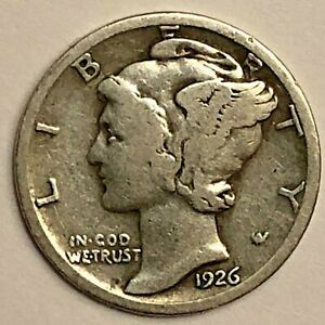 1926 MERCURY DIME         FREE COMBINED SHIPPING
