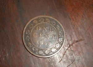1858 CANADA LARGE CENT COIN KEY DATE FILLER COIN HAS SCRATCHES ON BOTH SIDES