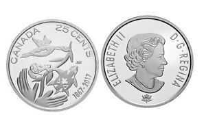 CANADA 2017 HOPE FOR A GREEN FUTURE 150TH ANNIVERSARY 25 CENT QUARTER COIN