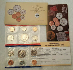 1990 UNCIRCULATED US MINT SET