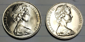 1977 & 1981 20 CENT COIN FROM MINT SET SPECIMEN