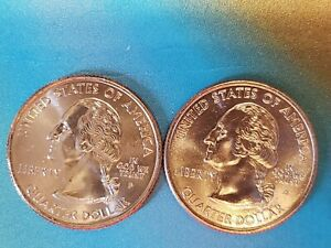 2 2001 D&P NEBRASKA STATE QUARTERS MS QUALITY OUT OF MINT ROLL STUNNING LUSTER