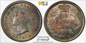 Click now to see the BUY IT NOW Price! 1874H TEN CENTS 10 PCGS MS 65   SUPERB GREEN & ORANGE TONES