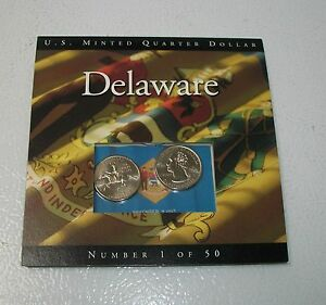 COINS OF AMERICA DELAWARE 2 PACK P@D STATE QUARTERS